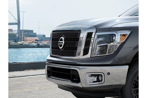 Black (matte) grille image for your Nissan